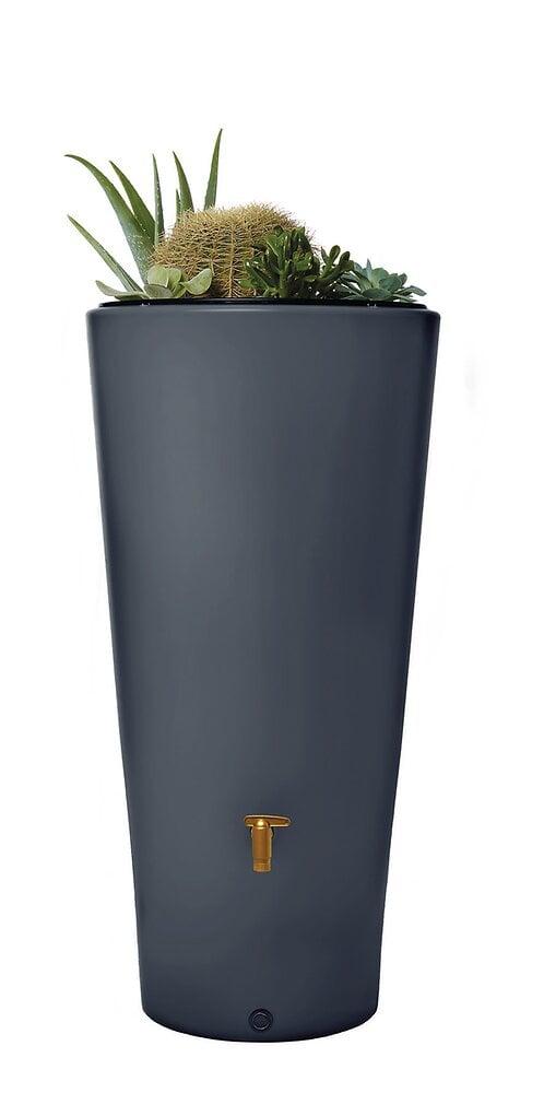 Cuve à eau vaso 2en1 220L graphite avec bac à plantes