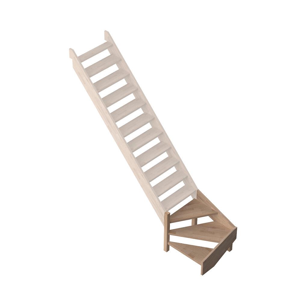 Quart tournant bas gauche escalier PROVENCE
