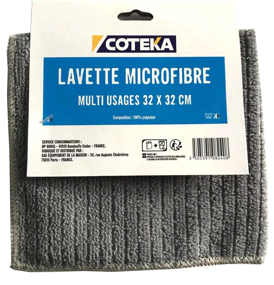 Lavette microfibre multiusage