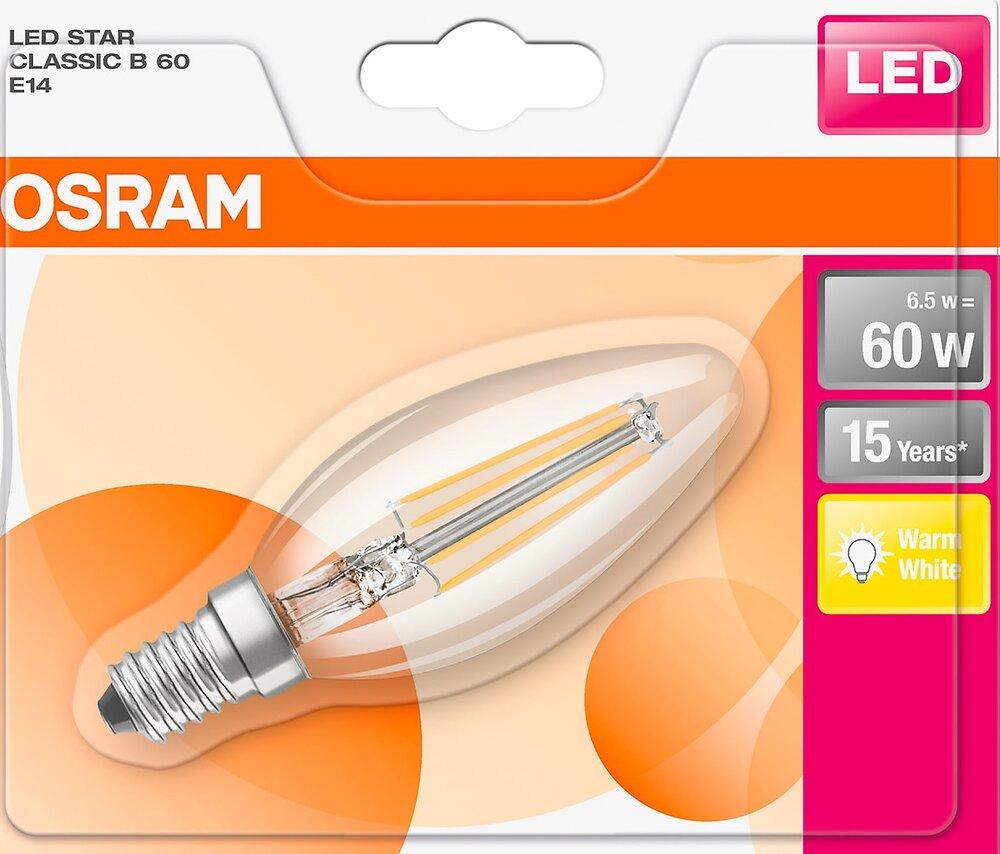 BLI Ampoule LED Flamme clair filament 6.5W=60 E14 chaud