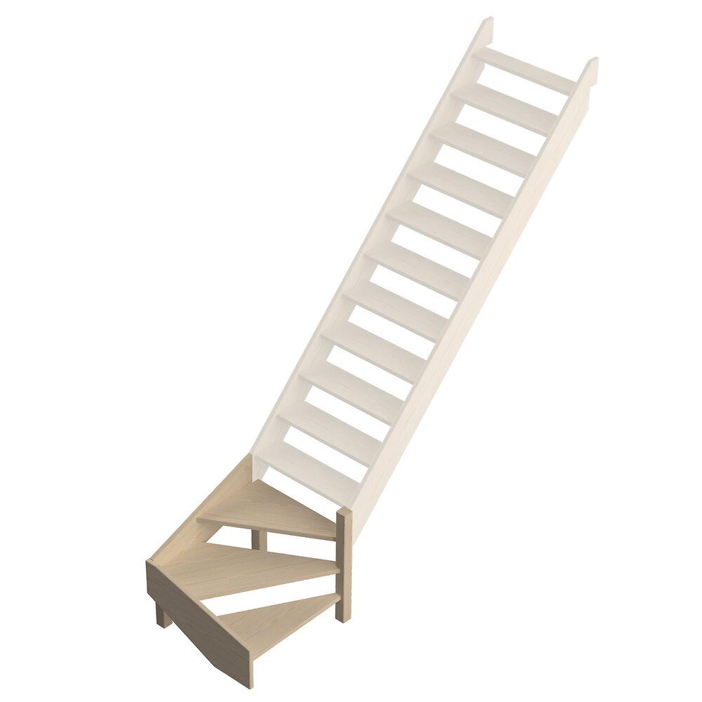 Quart tournant bas droit pour escalier Jura