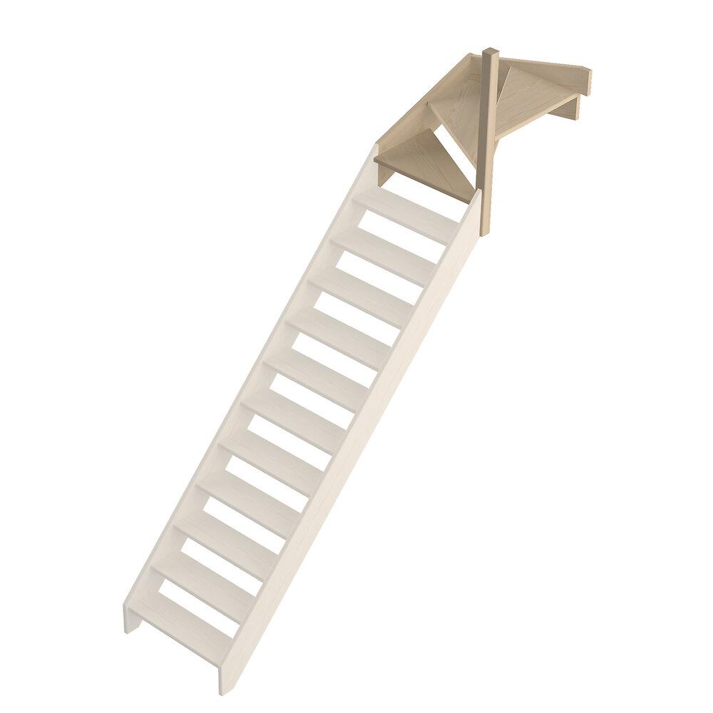 Quart tournant haut droit escalier Jura