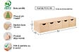 Mini bloc 5tiroirs en plaque pin  13x12x57