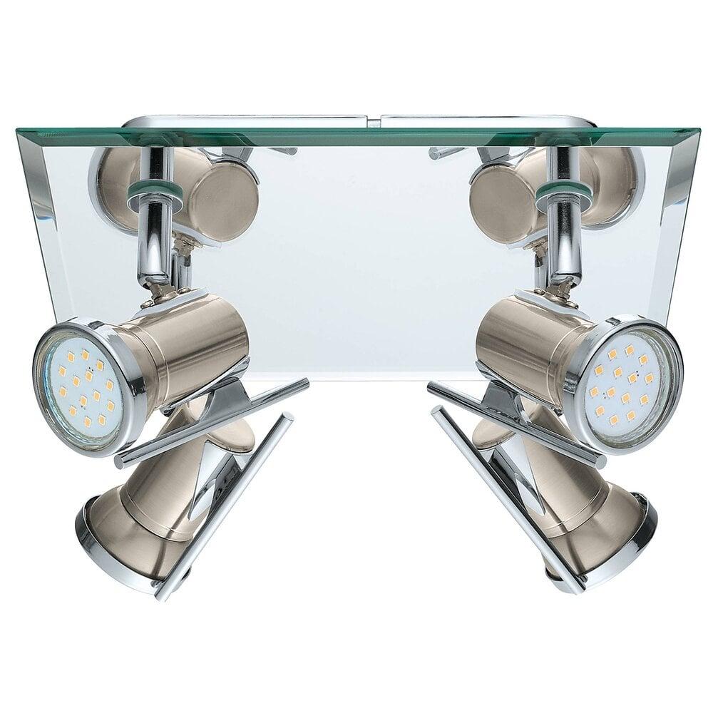 Plafonnier salle de bain 4 lumières Tamara1 chrome