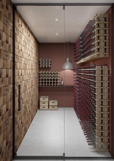 Casier en pin brut Rioja 9 bouteilles