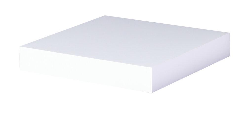 Etagère épaisseur 38mm 23x23.5cm fix inv blanc