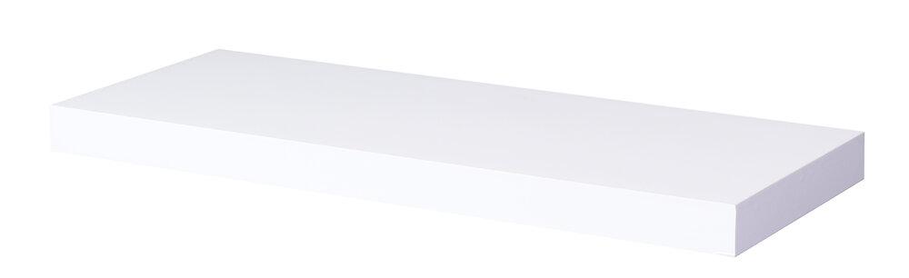 Etagère épaisseur 38mm 60x23.5cm fix inv blanc