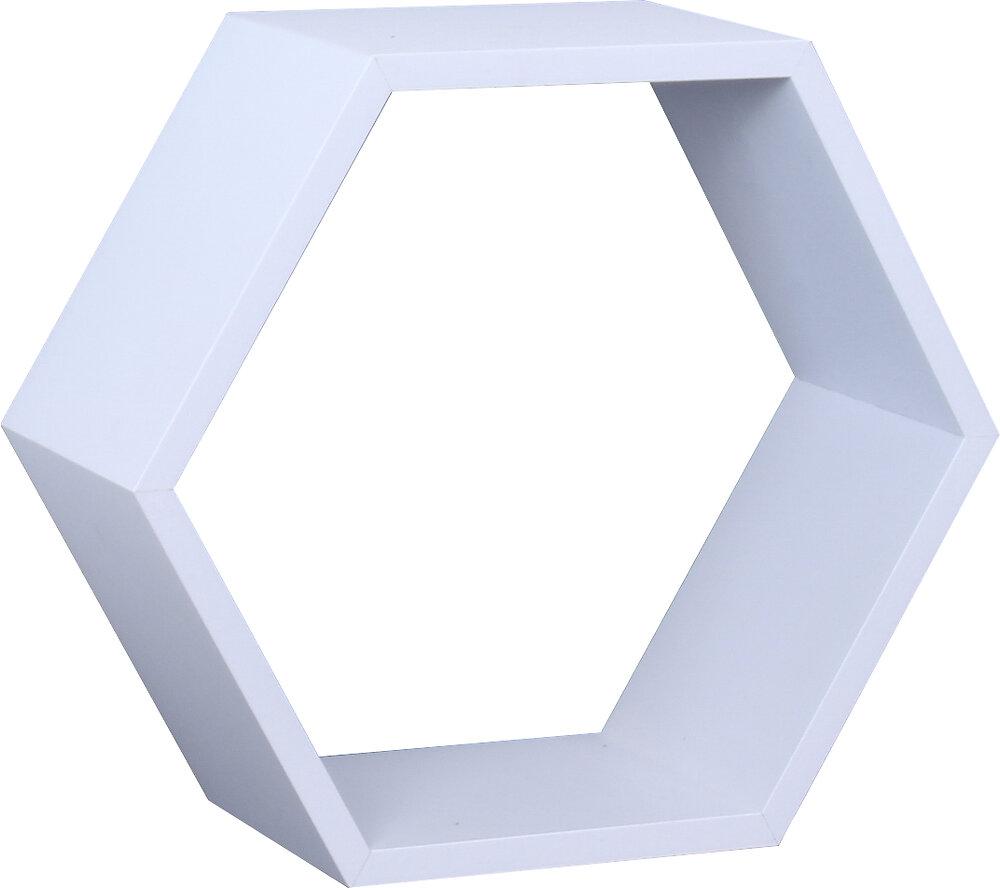 Etagère hexagonale 27x27x11.7cm blanc