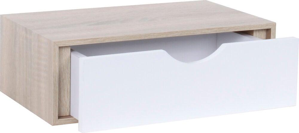 Etagère tiroir 40x23.5x10cm chêne sanoma/blanc