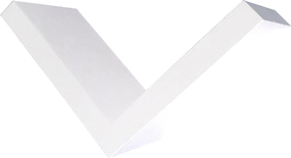 Etagère en V 24x24x14.5cm blanc