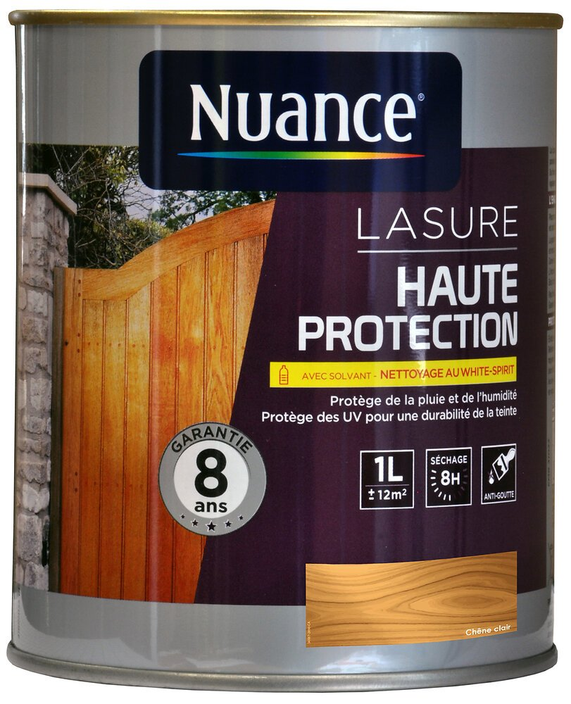 Lasure au solvant haute protection chêne clair 1L