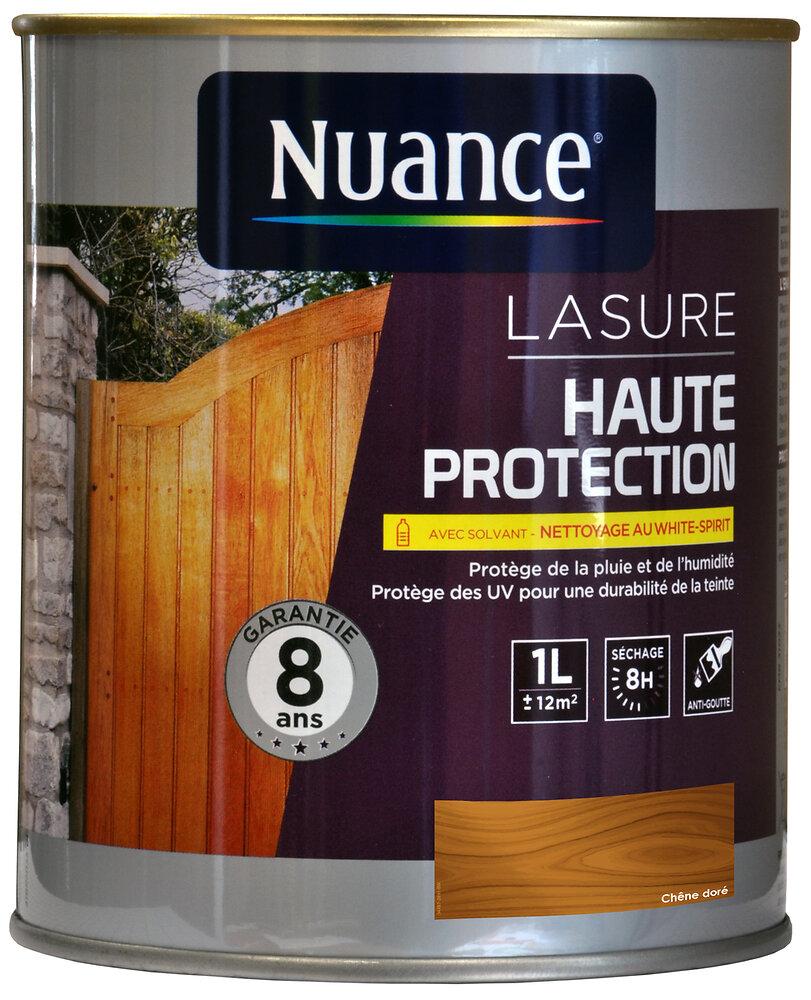 Lasure au solvant haute protection chêne doré 1L