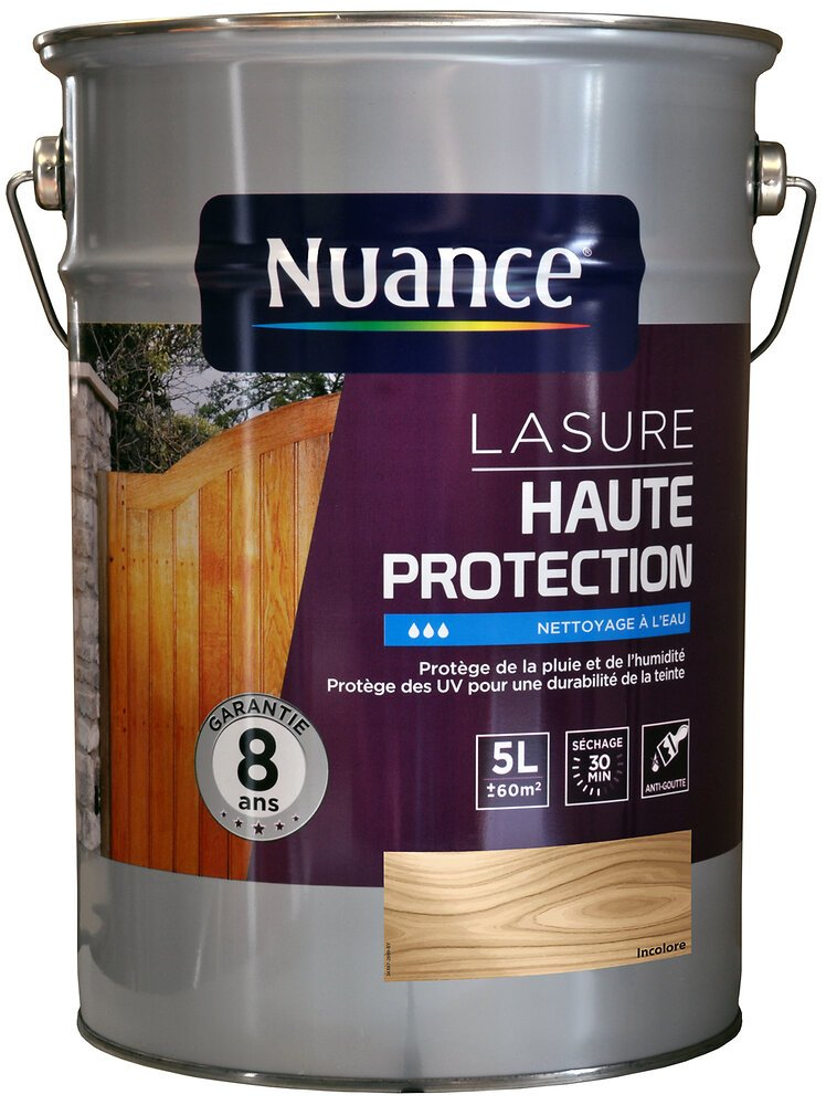 Lasure acrylique haute protection incolore 5L