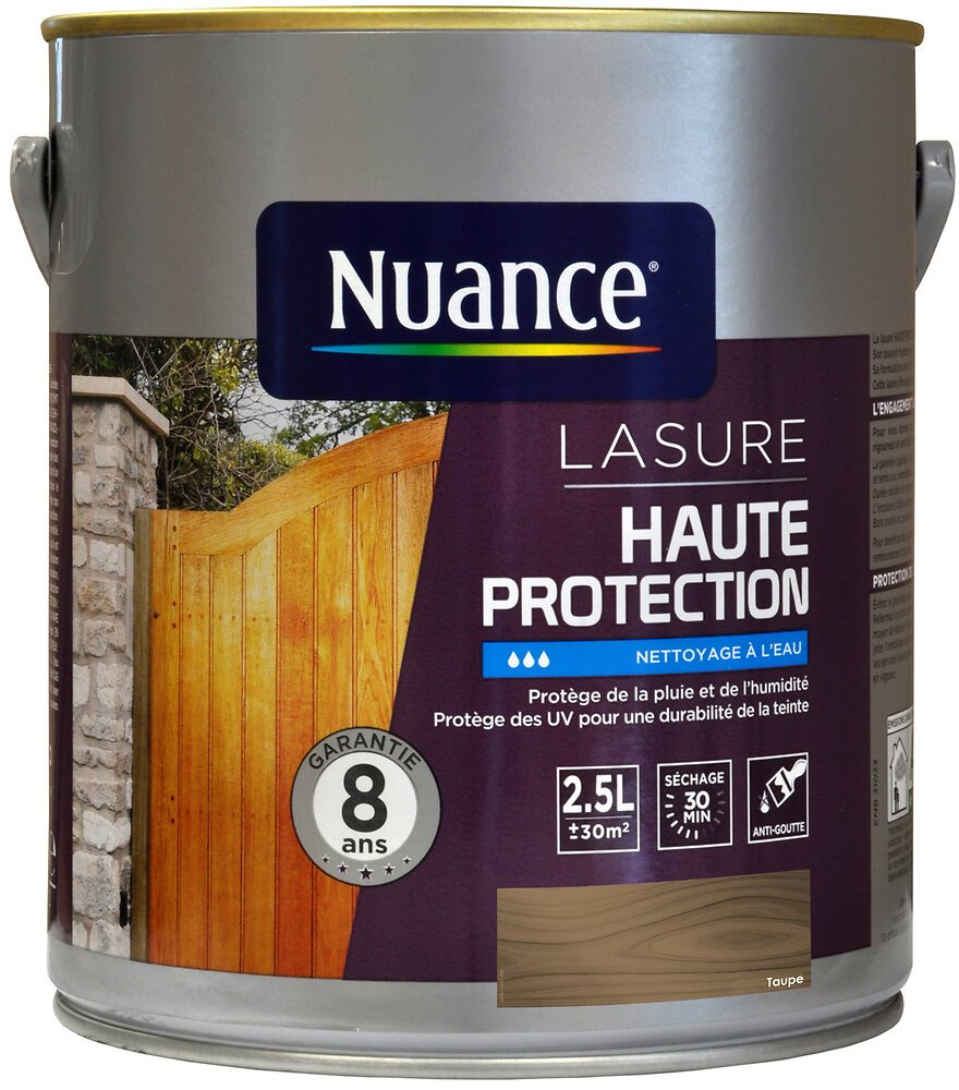 Lasure haute protection gris taupe 2.5L