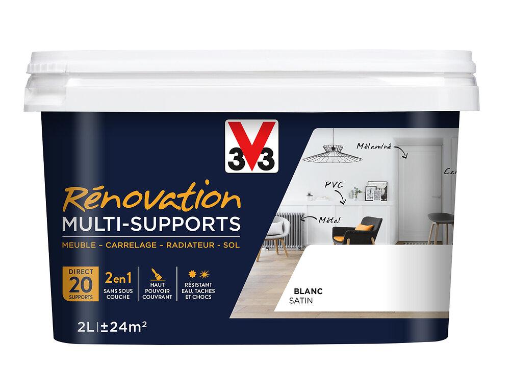 Peinture Rénov multi-supports Satin Blanc Pot 2l