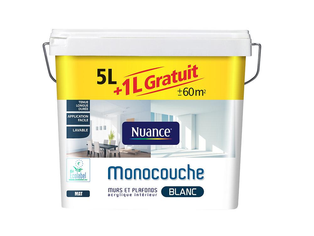 Peinture Murs et Plafonds Mat Blanc Pot 6l