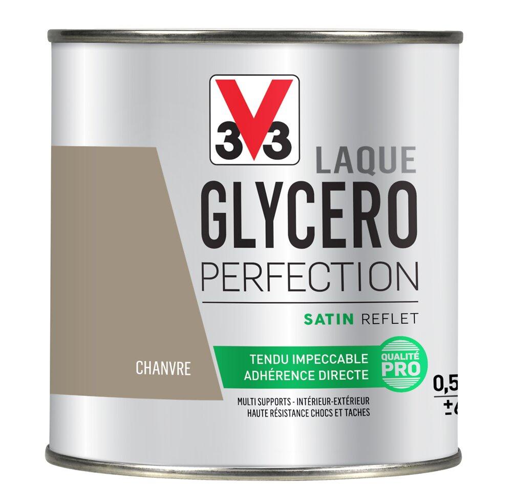 Peinture Laque Glycéro Satin Chanvre Pot 0.5l