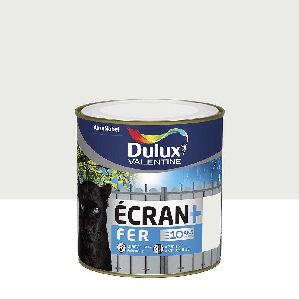 Ecran+ Fer DULUX VALENTINE Blanc Pur RAL 9010 brillant 0,5L