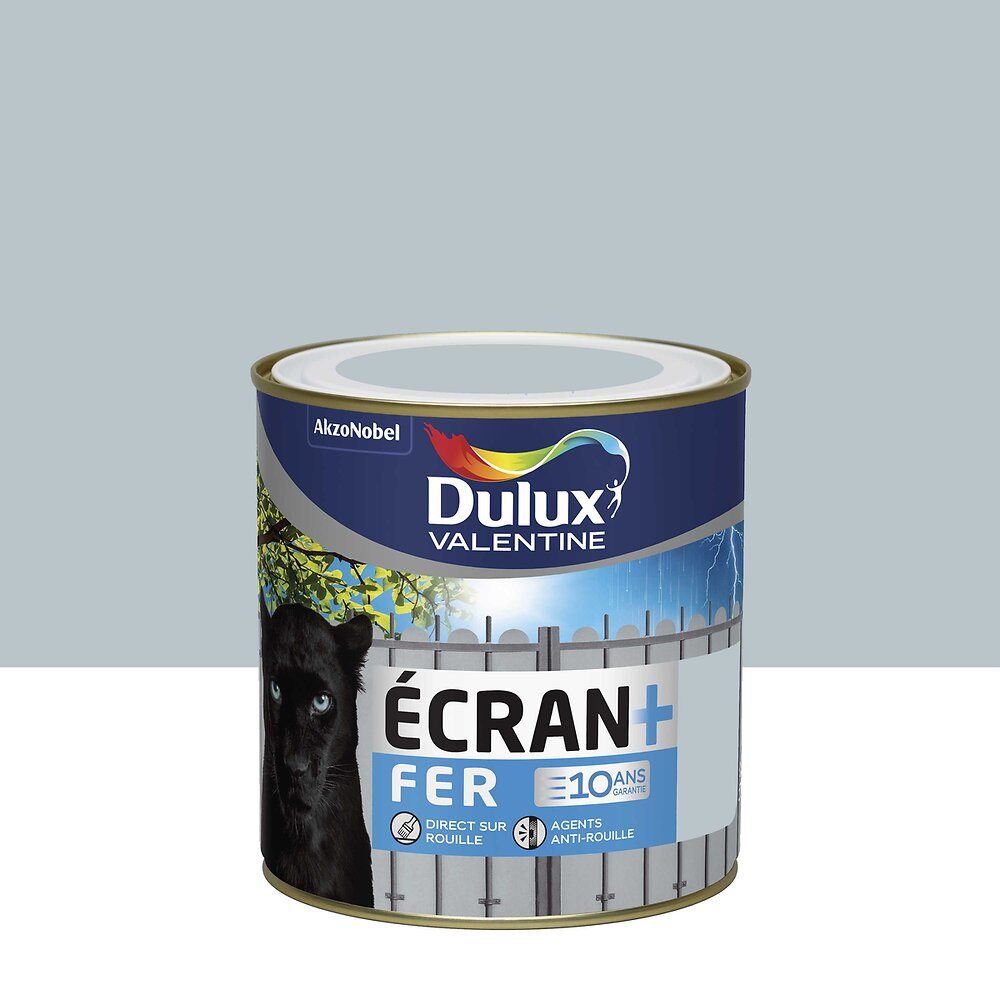 Ecran+ Fer DULUX VALENTINE Gris Clair  RAL 7035 brillant 0,5L