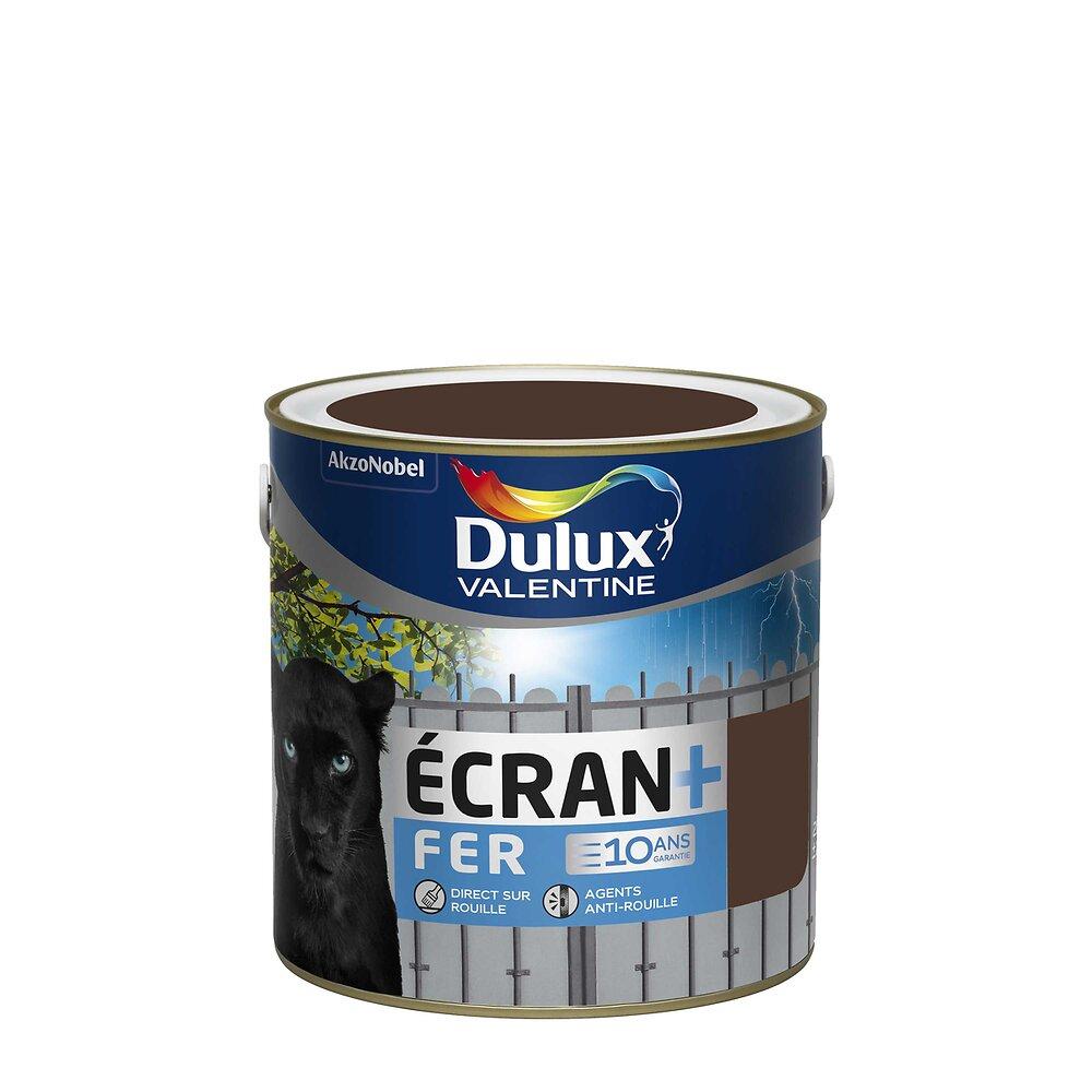 Ecran+ Fer DULUX VALENTINE Brun Normandie brillant 2L