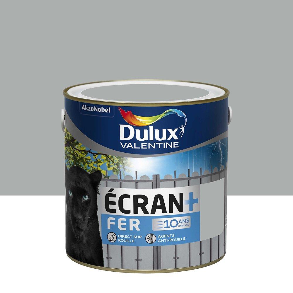 Ecran+ Fer DULUX VALENTINE Gris Franc brillant 2L