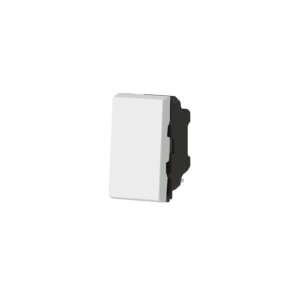 Poussoir lumineux avec voyant Mosaic Easy-Led 6A 1 module - blanc
