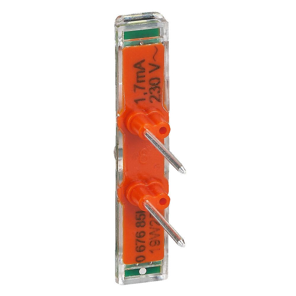 Voyant témoin Mosaic Easy-Led 230V avec repère orange
