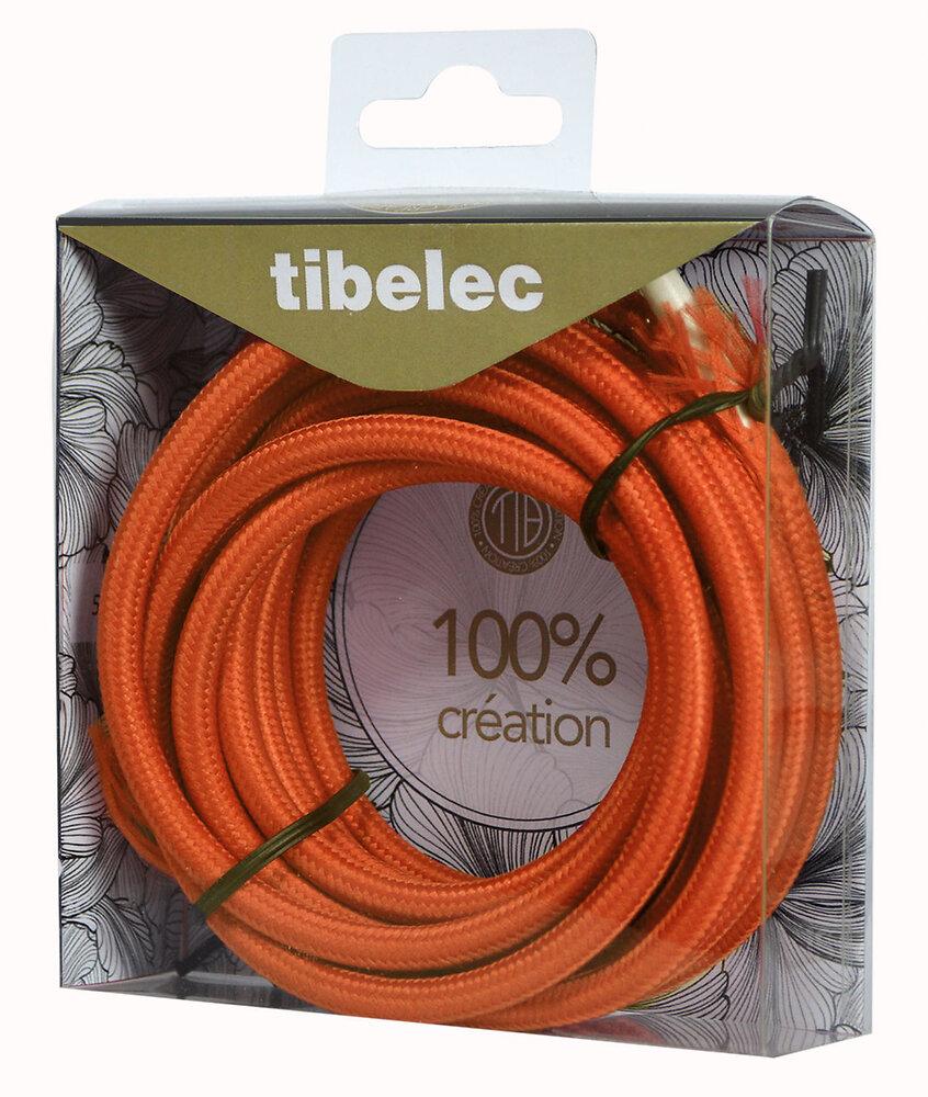 Câble tissu 3m orange