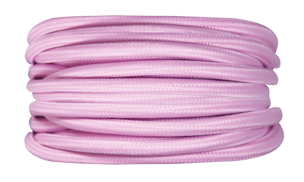 Câble tissu 3m rose