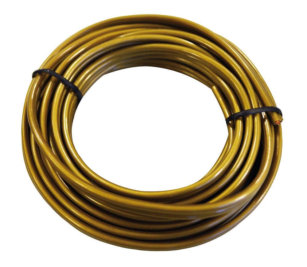 Câble plastique plat couleur or longueur 3m