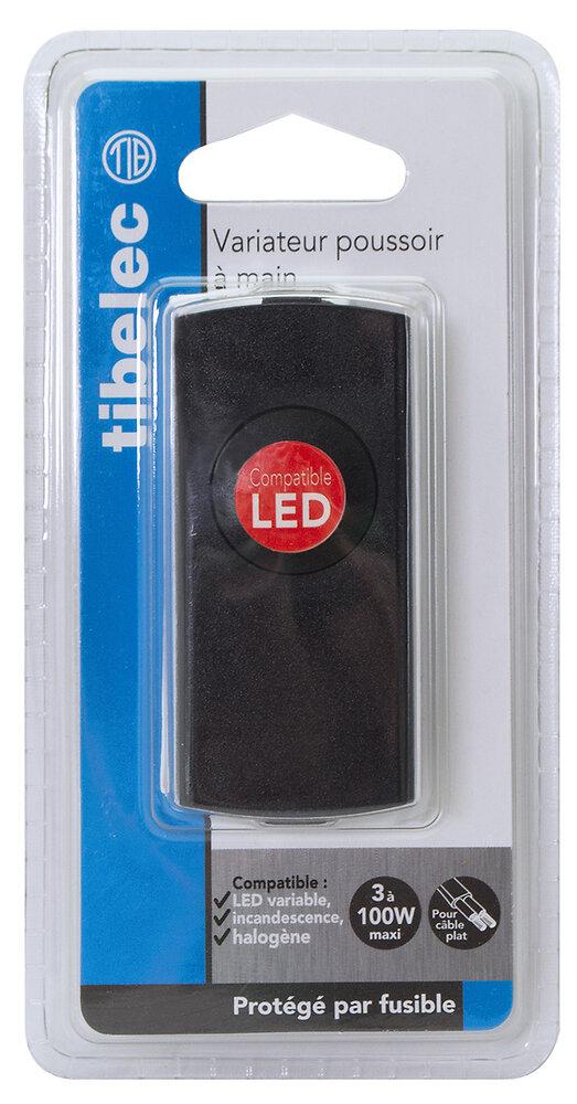 Interrupteur-variateur noir à main pour LED