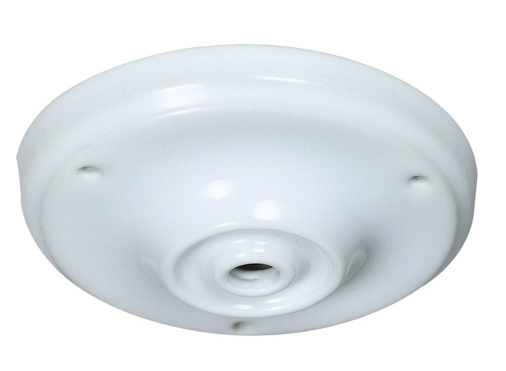 Pavillon céramique diam 105mm blanc