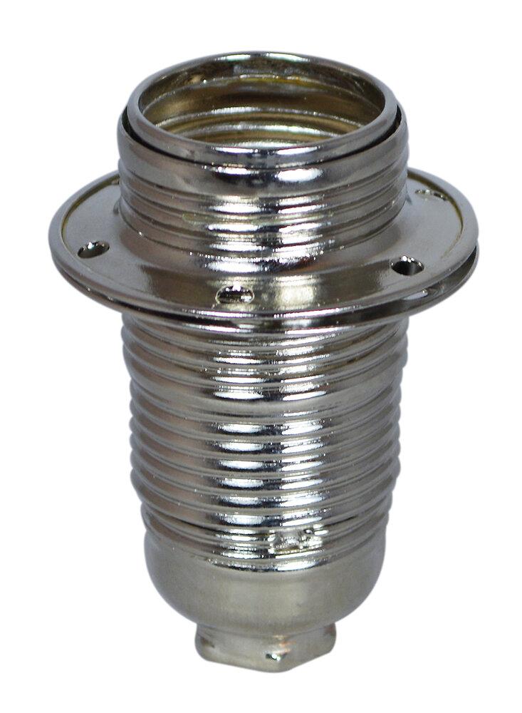 Douille E14 métal chromé