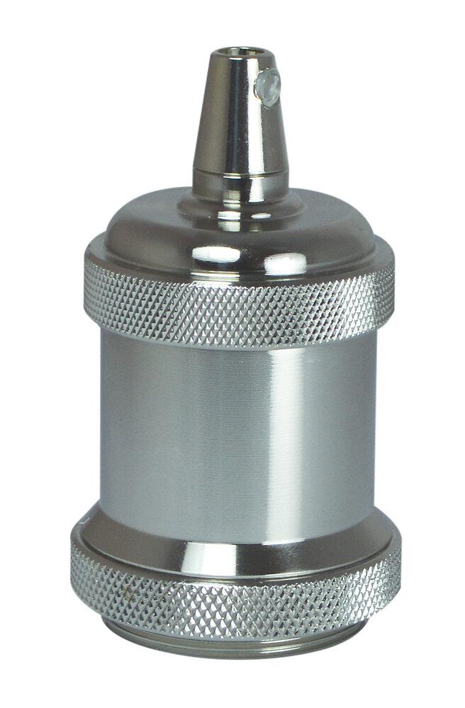 Douille E27 métal nickel