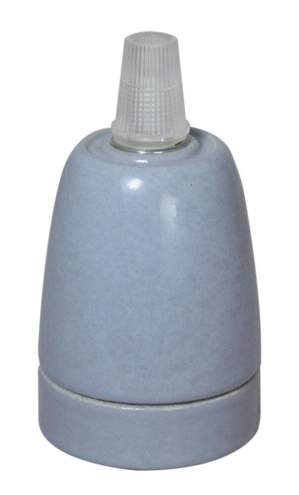 Douille E27 céramique grise
