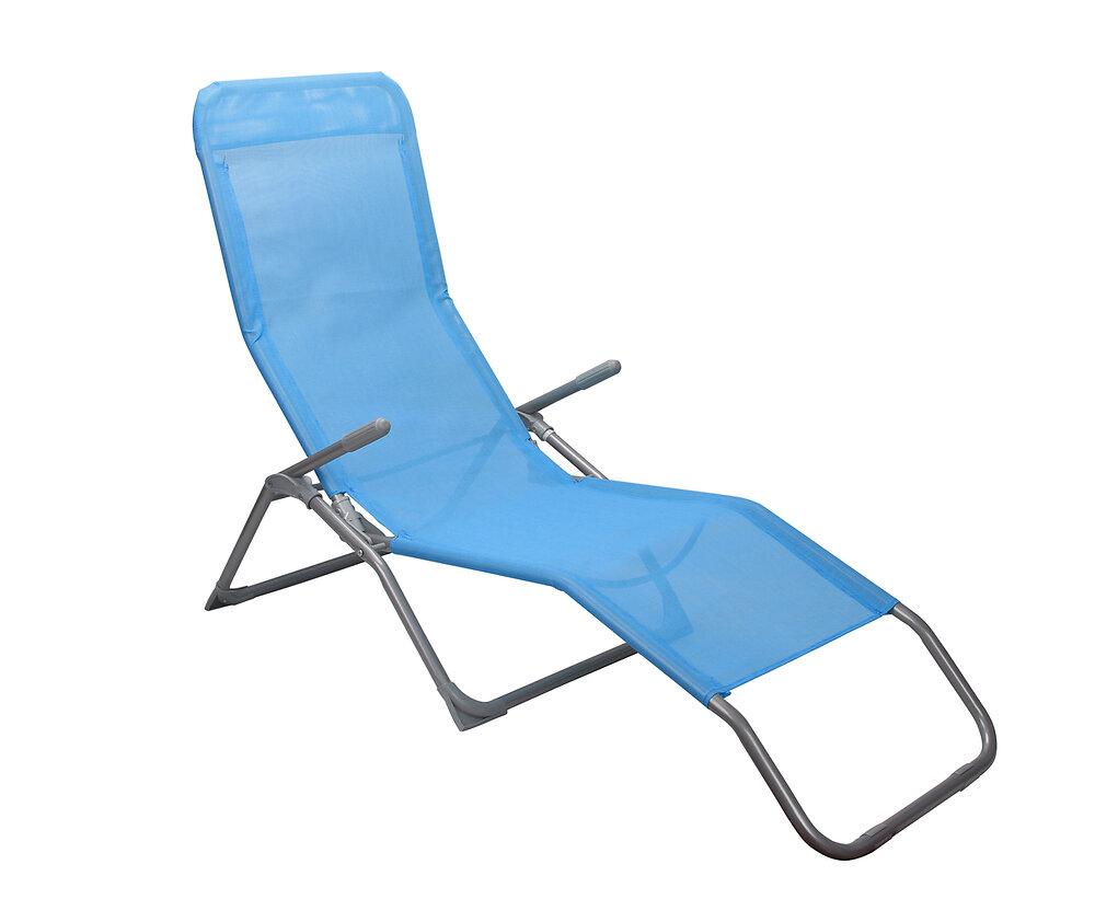 Bain de soleil textilène bleu