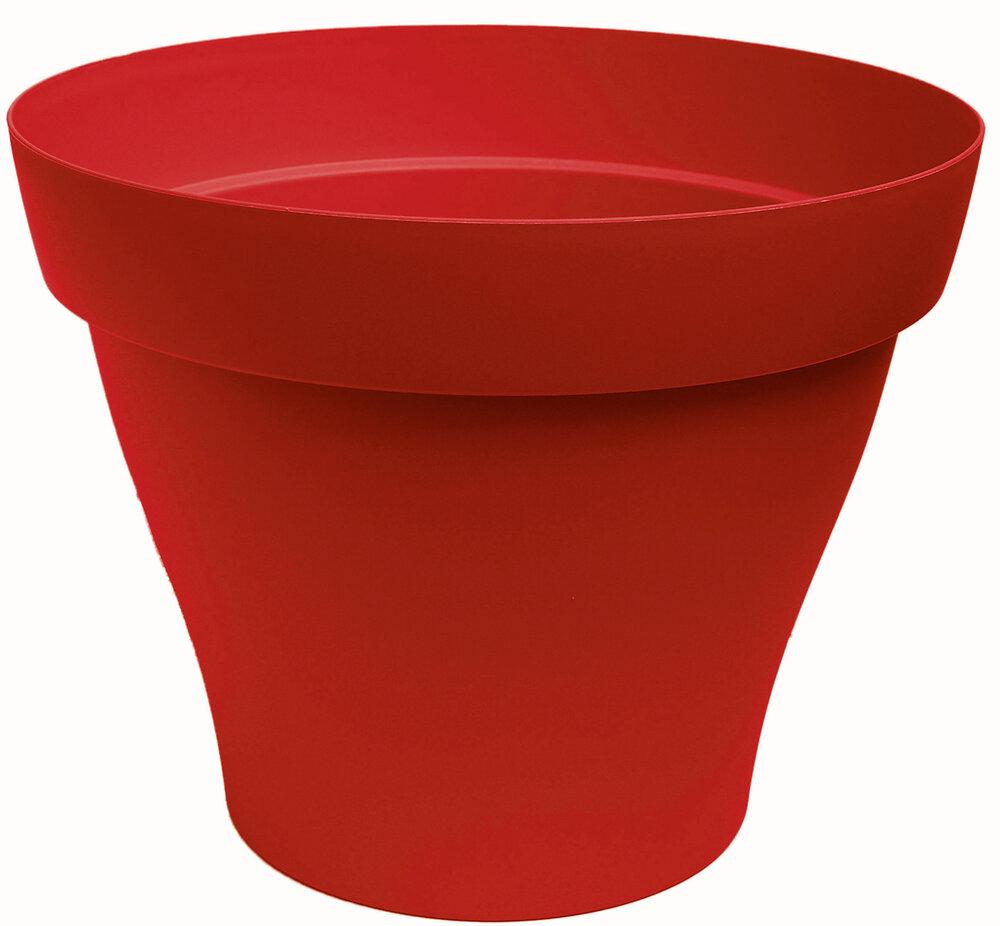 Pot Roméo rond 21 rouge