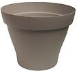 Pot rond Roméo 21 taupe