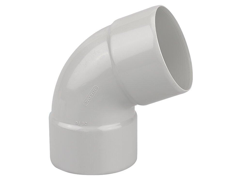 Coude gouttière PVC FF 67°30 DN80 couleur gris clair