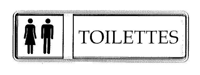 Panneau PVC: TOILETTES