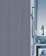 Rideau de douche SPIRELLA Romana uni gris PEVA 180 cm x 180 cm