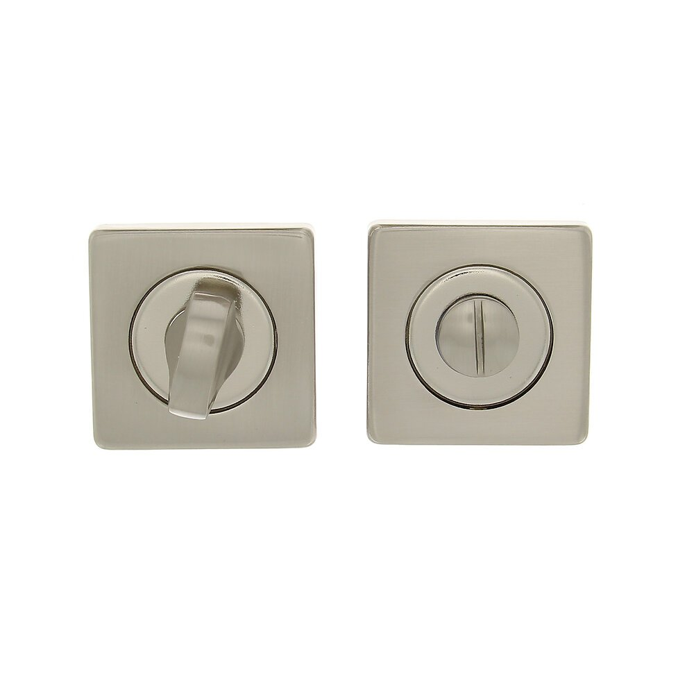 2 rosaces carrées condamnation-déconda nickel mat