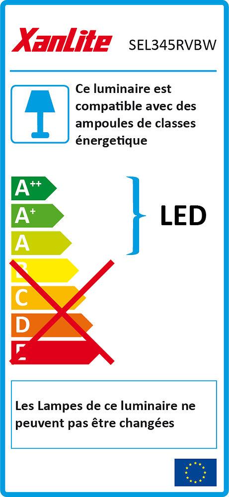 Spot LED intégrée couleur changeante 3W 2700k