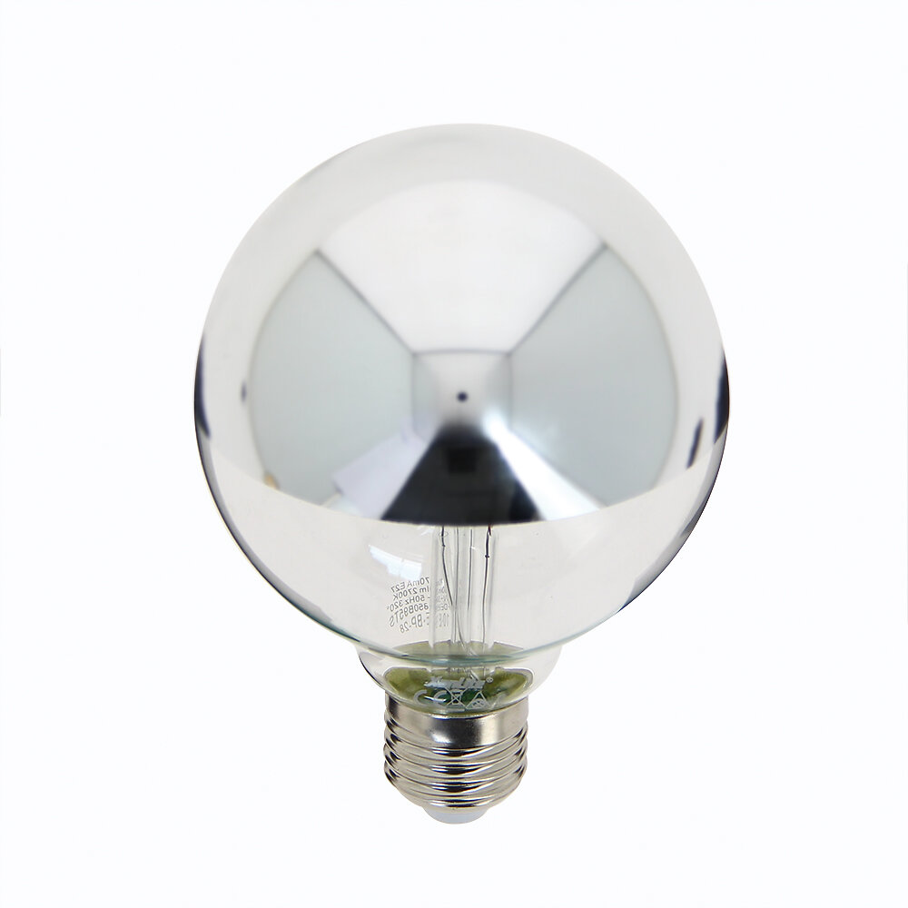 Ampoule LED G95 sylver E27 8W 2600k