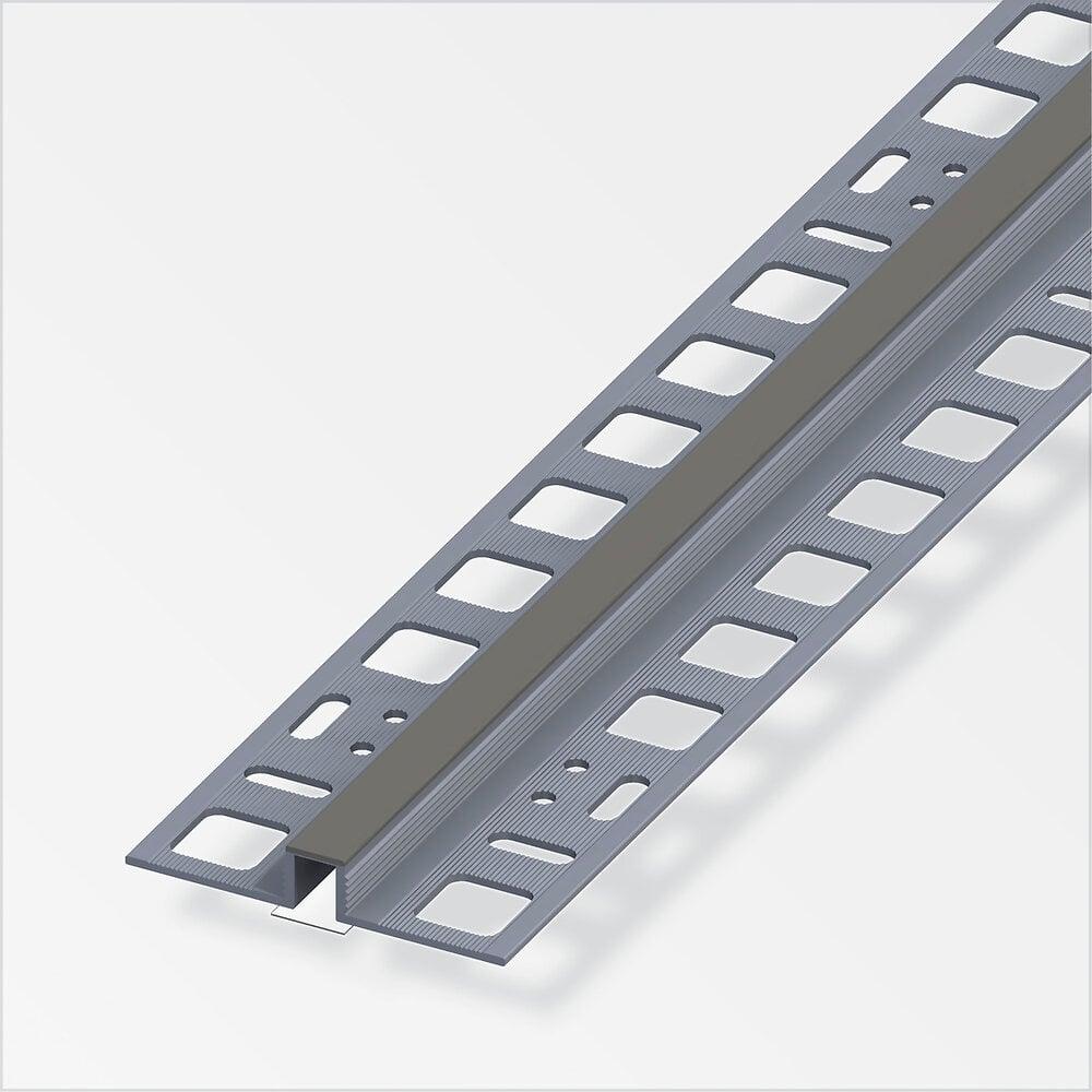 Dilatation 8x8 mm PVC gris béton 2,5 m