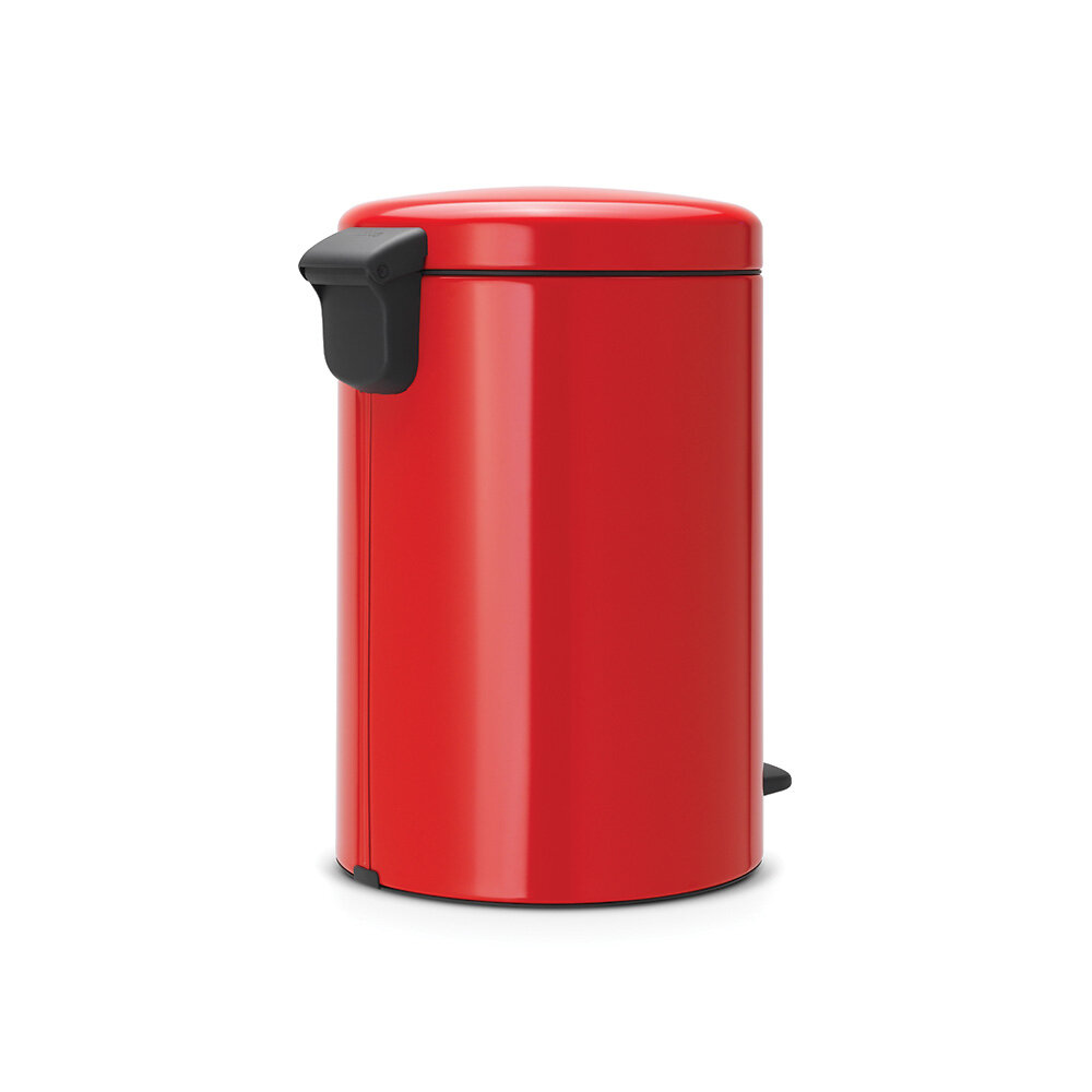 Poubelle de cuisine ronde à pédale NewIcon 20L - Passion Red