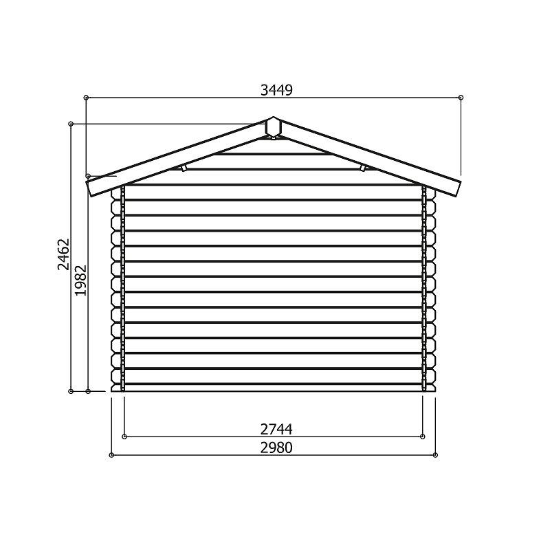 Abri de jardin en bois 10,82 m² Passage