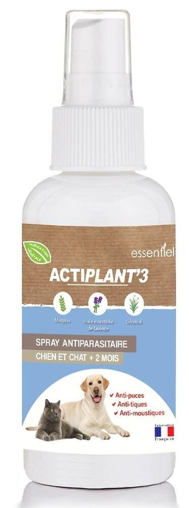 Spray antiparasitaire ACTIPLANT'3 100 ml chien et chat.
