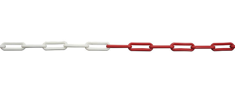 Chaine plastique Rouge/Blanc 8mm L25m VISO