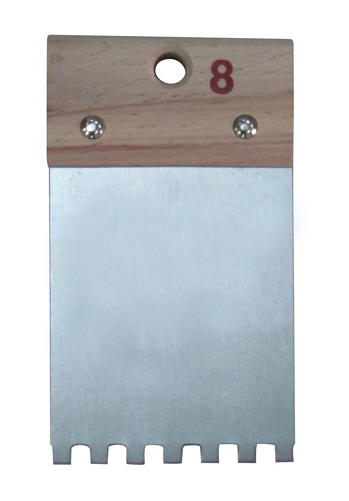 Couteau à colle à denture carrée 6X6 8cm